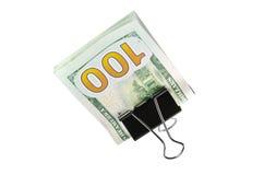 Ahorros nuevos 100 $ Imagen de archivo libre de regalías
