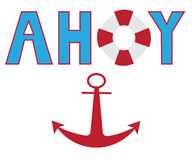 Ahoy Anchor Royalty Free Stock Photos