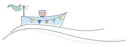 Ahoy het is een jongen! stock illustratie