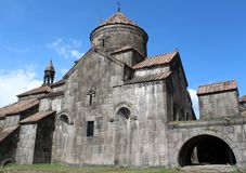 Ahpat is a functioning monastery in the north of Armenia. Haghpat Monastery is a town-planning monument of medieval Armenia, it is distinguished by its unity royalty free stock photo