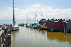 Ahrenshoop harbor Royalty Free Stock Images