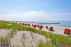 Ahrenshoop plaża Obrazy Stock