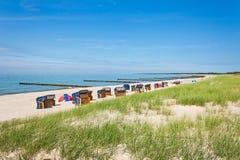 Ahrenshoop plaża Fotografia Royalty Free