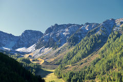 Ahrntal, Trentino-Alto Adige, Italy. The view of a mountain range of the Dolomites in the South Tyrol,Italy royalty free stock images