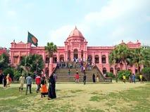 Ahsan Mantil, Pink Palace, old town, Dhaka, Bangladesh stock images
