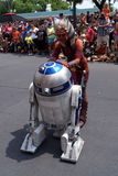 Ahsoka Tano with R2D2 at Star Wars Weekends at Dis Stock Photo