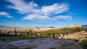 11 03 2018 Ahtens, Grekland - Parthenontemplet på Acropolien Arkivfoto
