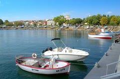 Ahtopol harbor pier,Bulgaria Royalty Free Stock Photography