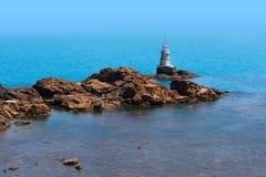 Ahtopol latarnia morska, Czarny morze Zdjęcia Stock