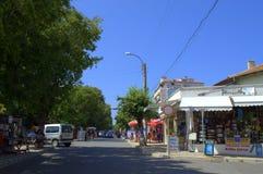 Ahtopol miasteczka główna ulica Obrazy Stock