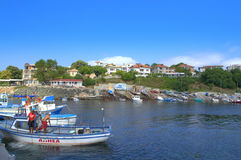 Ahtopol port, Bułgaria Zdjęcia Royalty Free