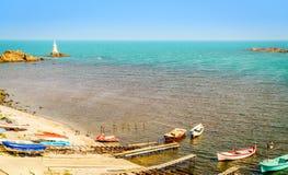 Ahtopol port w Bułgaria Zdjęcia Stock