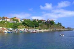 Ahtopol portu widok, Bułgaria Obraz Royalty Free
