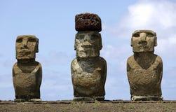 ahu复活节岛moai tongariki 免版税库存照片