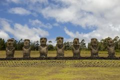Ahu Akivi Easter island, Chile stock photography