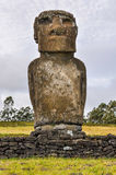 Ahu Akivi site in Easter Island, Chile Royalty Free Stock Images