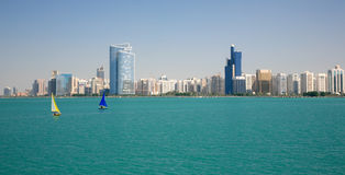 Ahu Dhabi City View Royalty Free Stock Photo