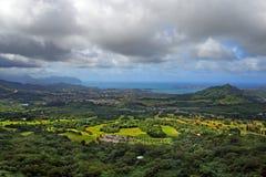 ahu Hawaii nuuanu o pali parka stan Fotografia Stock
