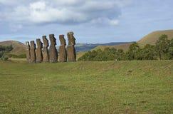 Ahu Kivi, Wielkanocna wyspa, Chile Zdjęcie Royalty Free