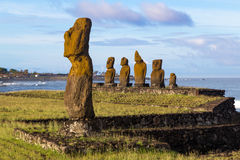 Ahu Tahai на острове пасхи Стоковая Фотография RF