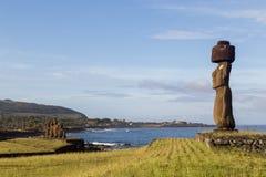 Ahu Tahai на острове пасхи Стоковые Фото