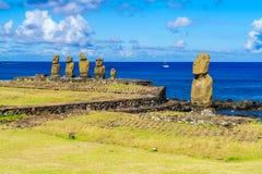 Ahu Tahai, Ahu Vai Uri i Pacyficzny ocean, Zdjęcia Royalty Free