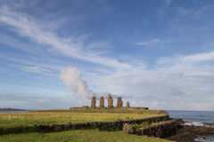 Ahu Tahai on Easter Island Stock Images
