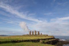 Ahu Tahai en la isla de pascua Imagenes de archivo