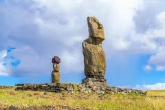 Ahu Tahai et Ahu Ko Te Riku photos libres de droits