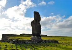 Ahu Tahai. Long shot of the Moai at Ahu Tahai in Hanga Roa in Rapa Nui, Easter Island, Chile, South America Stock Photo