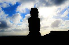 Ahu Tahai. Long shot of the Moai at Ahu Tahai in Hanga Roa in Rapa Nui, Easter Island, Chile, South America Stock Images