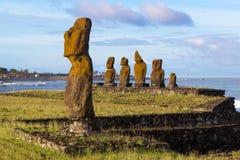 Ahu Tahai sull'isola di pasqua Fotografia Stock Libera da Diritti