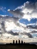 Ahu Tahai Sunset. The Ahu Tahai sunsets, Easter Island Stock Photo