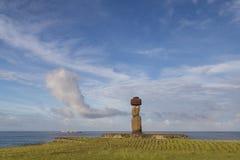 Ahu Tahai sur l'île de Pâques Images stock