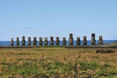 Ahu Tongariki, île de Pâques images stock
