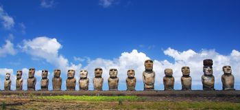 Ahu Tongariki royalty free stock photo