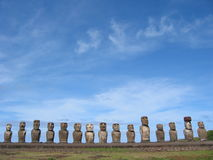 Ahu Tongariki Royalty Free Stock Photography