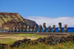 Ahu Tongariki Royalty Free Stock Images