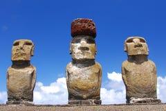 Ahu Tongariki. Easter Island (Rapa Nui) moai of Ahu Tongariki Stock Photo