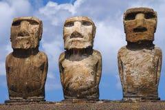 Ahu Tongariki. Easter Island (Rapa Nui) moai of Ahu Tongariki Stock Photography