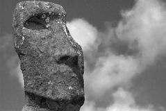 Ahu Tongariki at Easter Island. One of 15 Moai at Ahu Tongariki, Easter Island Stock Photos
