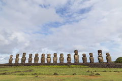 Ahu Tongariki on Easter Island Royalty Free Stock Photo