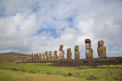 Ahu Tongariki on Easter Island Royalty Free Stock Images