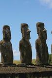 Ahu Tongariki, het Eiland van Pasen Stock Fotografie