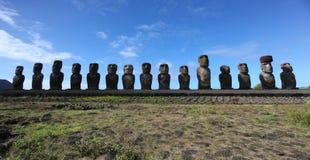 Ahu Tongariki, isla de pascua Fotografía de archivo