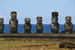 Ahu Tongariki, isla de pascua Imagen de archivo libre de regalías