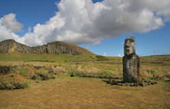 Ahu Tongariki, isola di pasqua Immagine Stock Libera da Diritti