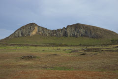 Ahu Tongariki, isola di pasqua, Cile Fotografia Stock