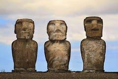 Ahu tongariki moai Fotografia Royalty Free