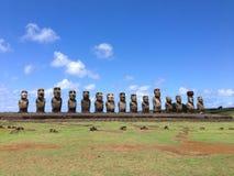 Ahu tongariki moai Obraz Royalty Free